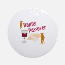 Happy Passover Ornament (Round)