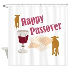 Happy Passover Shower Curtain
