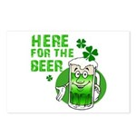Here For The Beer! Postcards (Package of 8)