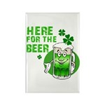 Here For The Beer! Rectangle Magnet (100 pack)