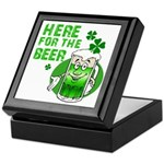 Here For The Beer! Keepsake Box