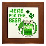 Here For The Beer! Framed Tile
