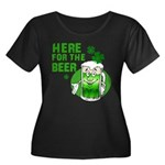 Here For The Beer! Women's Plus Size Scoop Neck Da