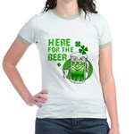 Here For The Beer! Jr. Ringer T-Shirt
