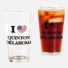 I love Quinton Oklahoma Drinking Glass