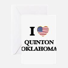 I love Quinton Oklahoma Greeting Cards