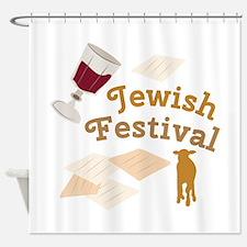 Jewish Festival Shower Curtain