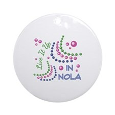 Live It Up Ornament (Round)