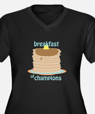 Breakfast Of Champions Plus Size T-Shirt