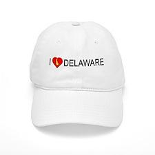 I love Delaware Baseball Cap