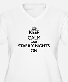 Keep Calm and Starry Nights ON Plus Size T-Shirt