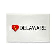 I love Delaware Rectangle Magnet