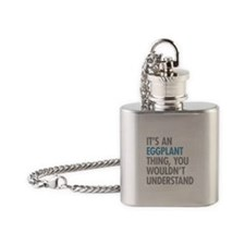 Eggplant Thing Flask Necklace