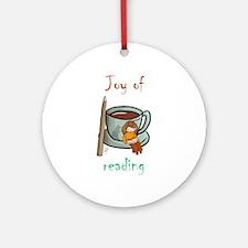 """Joy of reading (2)"" Ornament (Round)"