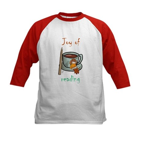 """Joy of reading (2)"" Kids Baseball Jersey"