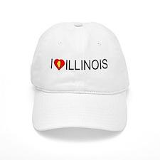 I love Illinois Baseball Cap