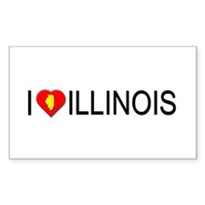 I love Illinois Rectangle Decal
