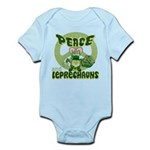 Peace Love And Leprechauns Infant Bodysuit