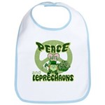 Peace Love And Leprechauns Bib