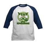 Peace Love And Leprechauns Kids Baseball Jersey