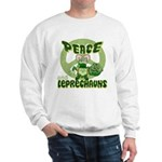 Peace Love And Leprechauns Sweatshirt