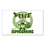 Peace Love And Leprechauns Rectangle Sticker