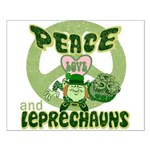 Peace Love And Leprechauns Small Poster