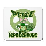 Peace Love And Leprechauns Mousepad