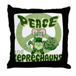 Peace Love And Leprechauns Throw Pillow