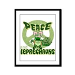 Peace Love And Leprechauns Framed Panel Print