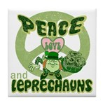 Peace Love And Leprechauns Tile Coaster