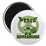 "Peace Love And Leprechauns 2.25"" Magnet (10 pack)"