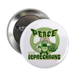 "Peace Love And Leprechauns 2.25"" Button (10 pack)"