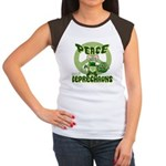 Peace Love And Leprechauns Women's Cap Sleeve T-Sh