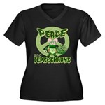 Peace Love And Leprechauns Women's Plus Size V-Nec