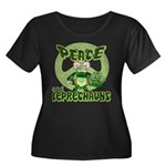 Peace Love And Leprechauns Women's Plus Size Scoop