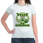 Peace Love And Leprechauns Jr. Ringer T-Shirt