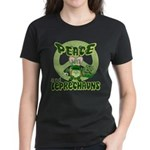 Peace Love And Leprechauns Women's Dark T-Shirt