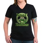 Peace Love And Leprechauns Women's V-Neck Dark T-S