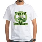 Peace Love And Leprechauns White T-Shirt