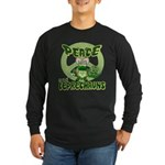 Peace Love And Leprechauns Long Sleeve Dark T-Shir