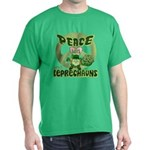 Peace Love And Leprechauns Dark T-Shirt