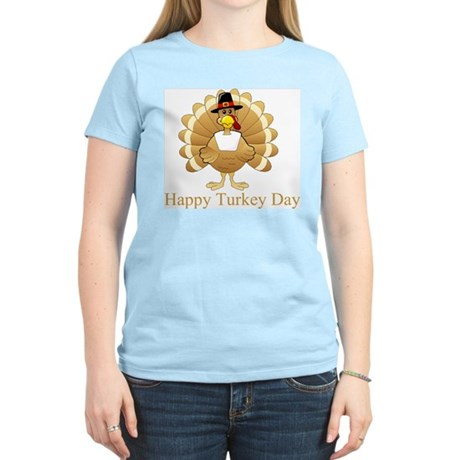 Happy Turkey Day Women's Light T-Shirt