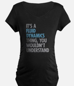 Fluid Dynamics Thing Maternity T-Shirt