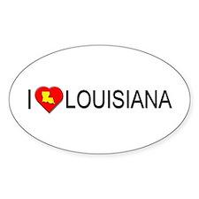 I love Louisiana Oval Decal