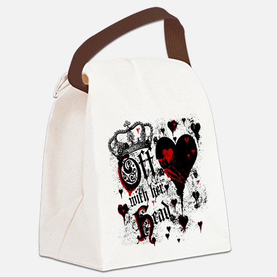 Off WIth Her Head Canvas Lunch Bag