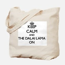Keep Calm and The Dalai Lama ON Tote Bag