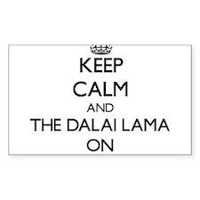 Keep Calm and The Dalai Lama ON Decal