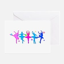 Ballet Sillouettes Greeting Cards