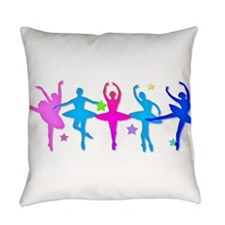 Ballet Sillouettes Everyday Pillow